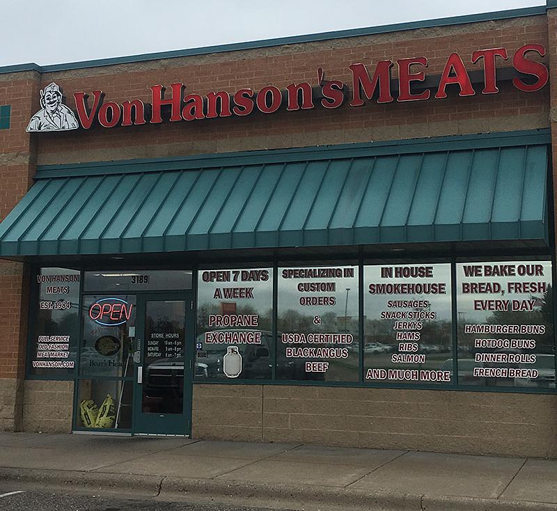 Welcome To Von Hanson S Coon Rapids Von Hanson S Meats